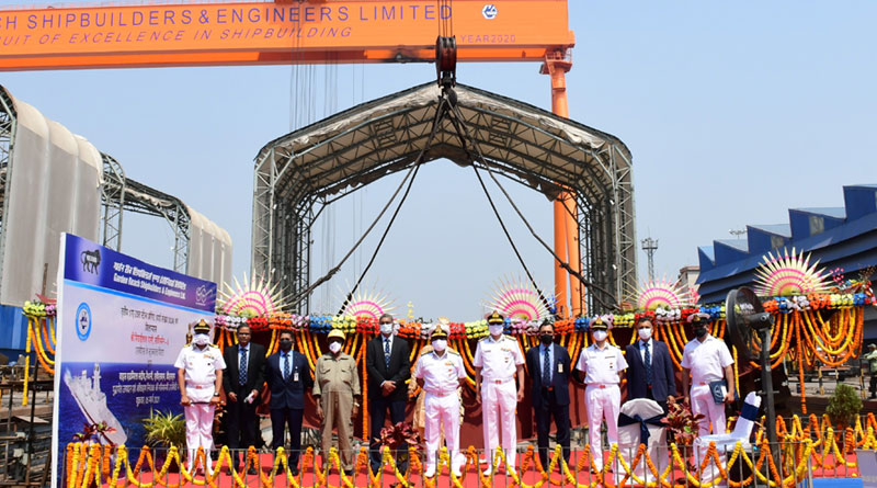 GRSE Lays the Keel of third Ship of the Project 17A Advanced Stealth Frigate
