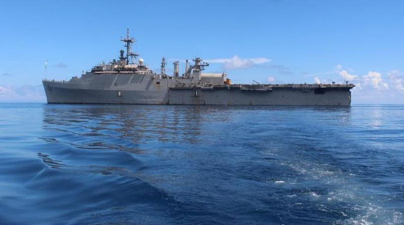 Part of Mission Sagar-IV, INS Jalashwa Reaches Comoros with Rice