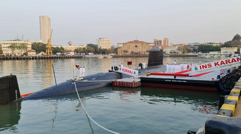 Third Kalvari-class Submarine INS Karanj Commissioned