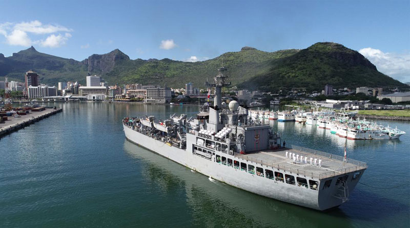 INS Shardul Arrives at Port Louis in Mauritius