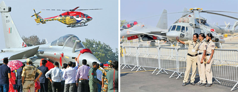 Atmanirbhar Bharat on display at the show with a range of HAL platforms taking to sky