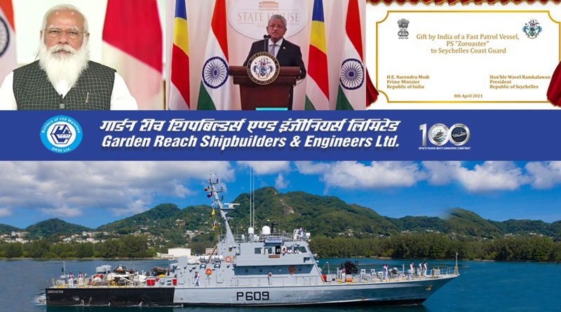 India Hands Over FPV SCG PS Zoroaster to Seychelles Coast Guard