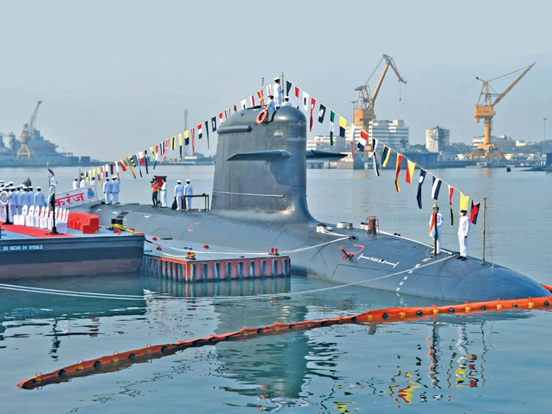 INS Karanj, the third of the Kalvari-class submarine