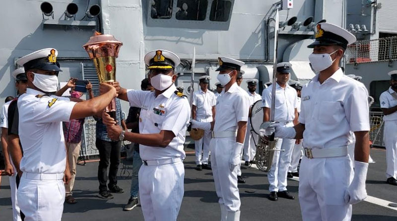 Indian Naval Ships To Carry Swarnim Vijay Varsh Victory Flame