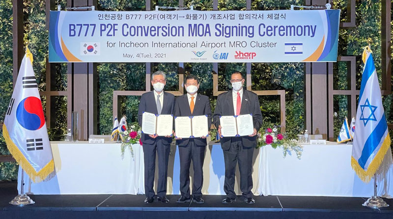 IAI and Incheon to Establish a Boeing 777 Conversion Facility in South Korea