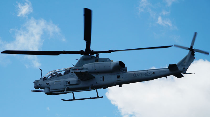 The US Marine Corps Successfully Completes the First Flight of AH-1Z Helicopter with Link-16