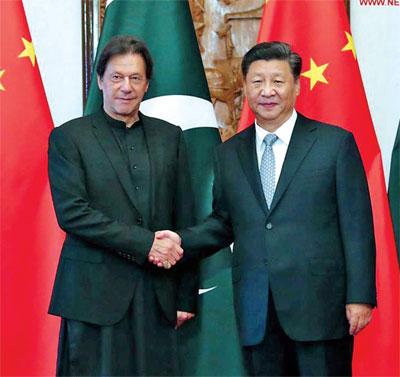 Imran Khan Xi Jinping Xinhua 2019