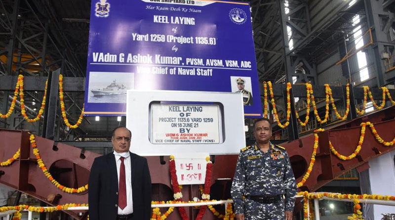 Keel Laying Ceremony for Second Frigate Under an Indigenous Programme Held