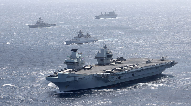 UK Carrier Strike Group Starts Maritime Exercise with Indian Navy