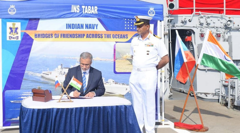 INS Tabar Participates in Russian Navy Day Celebrations