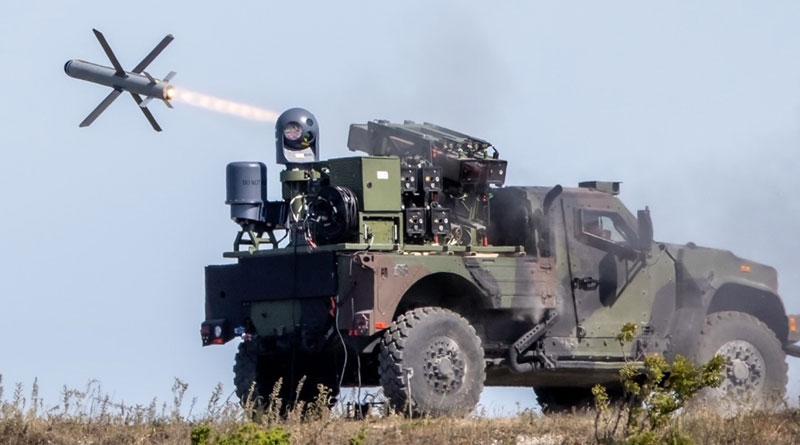 Rafael Fires SPIKE NLOS Missile from Oshkosh JLTV in Estonia