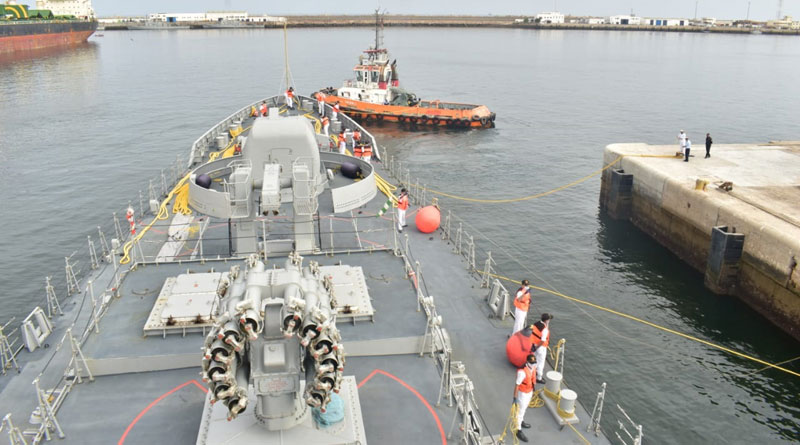 INS Tabar Exercises With Moroccan Navy