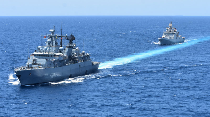 INS Trikand Undertakes Maritime Partnership Exercise with German Navy Ship