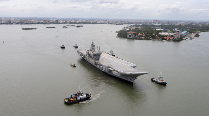 INS Vikrant Steps into the Waters for the First Time