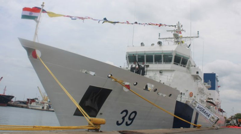 Seventh OPV, ICGS Vigraha Commissioned into the Indian Coast Guard