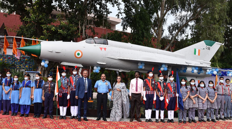 CAS Visits Air Force Station Chandigarh