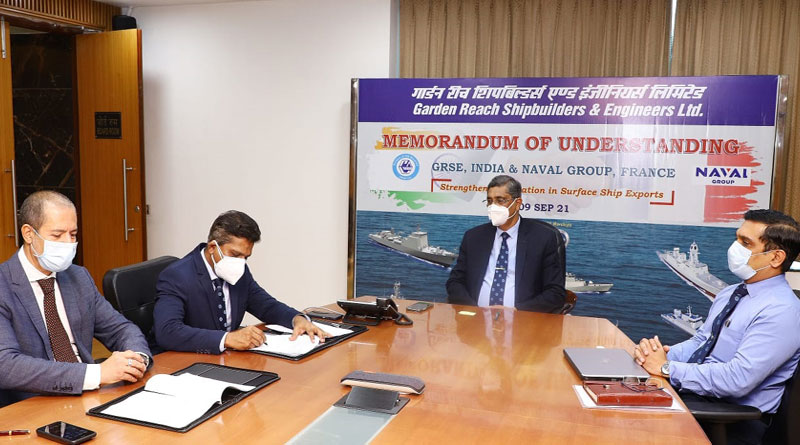 GRSE and Naval Group Sign MoU on Surface Ships