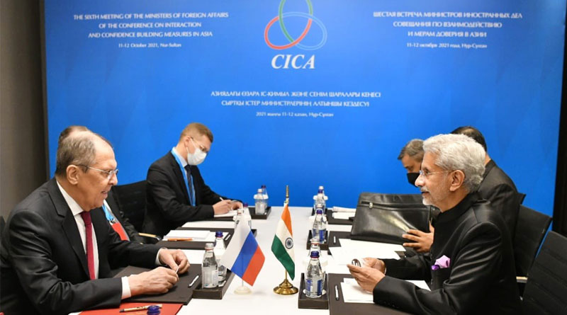 Indian EAM Meets Russian Counterpart in Kazakhstan